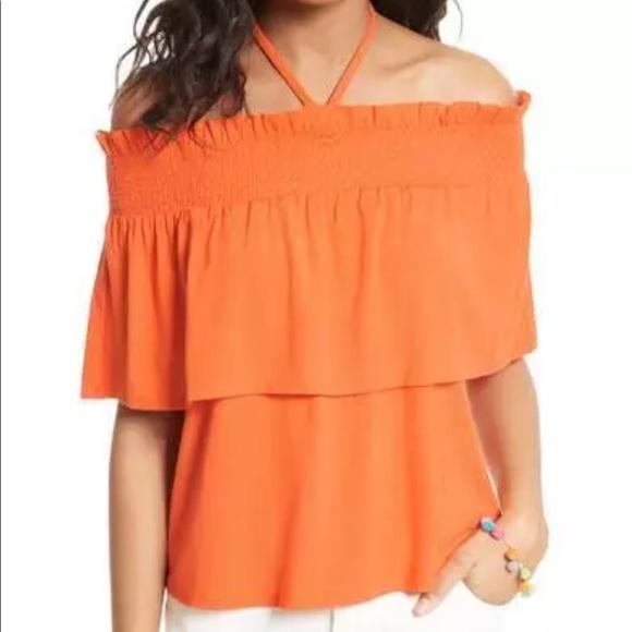 66433bc3e6186a NEW NWT Rebecca Minkoff orange top size small S